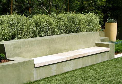 concrete bench seat landscape seat landscape modern with stone concrete wall