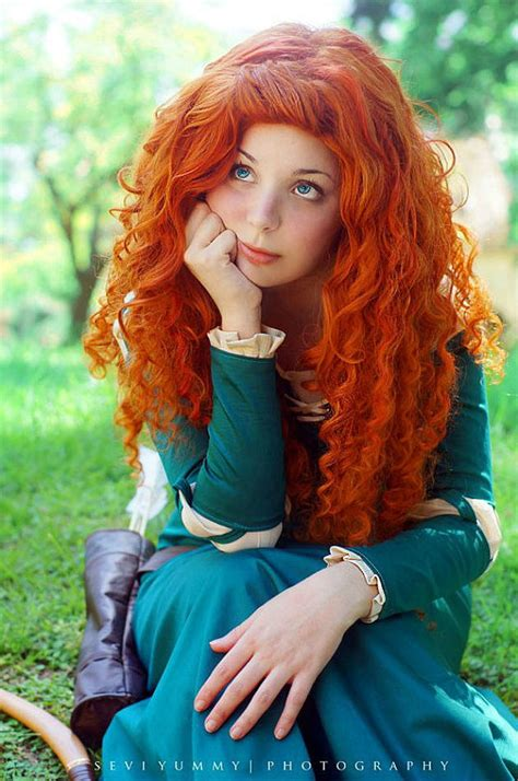 cute girl hairstyles merida cosplay of the day merida is brave obviously