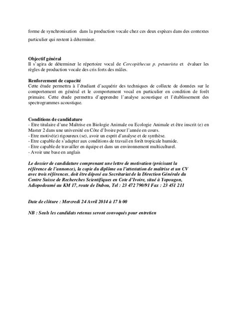 Lettre De Motivation De Biologie Lettre De Motivation Ecologie Le Dif En Questions