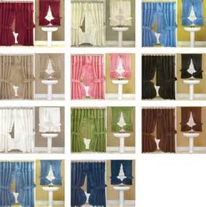 swag shower window curtain set ebay