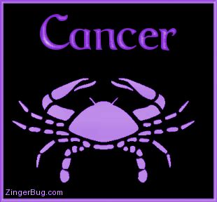 cancer purple astrological sign glitter graphic