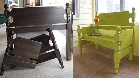 headboard to bench repurposed ideas cute repurposed furniture ideas for