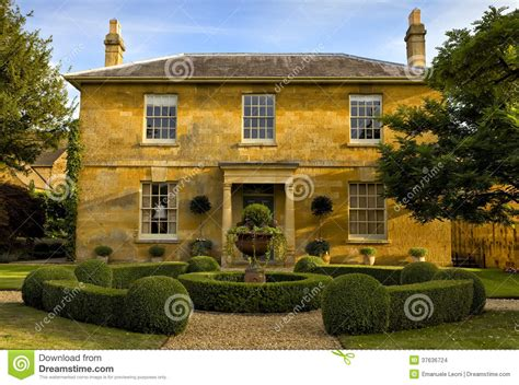 kingdom house a traditional double fronted house in the cotswolds england united kingdom stock