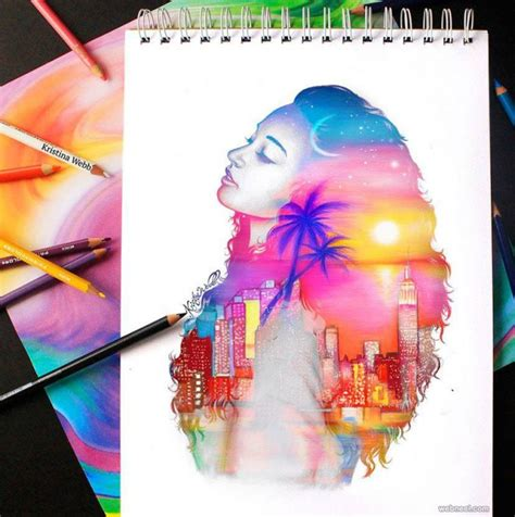 25 beautiful color pencil drawings and creative works