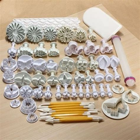 Tools For Decorating Cakes by 68 Pcs Sugarcraft Cake Decorating Fondant Plunger Cutters