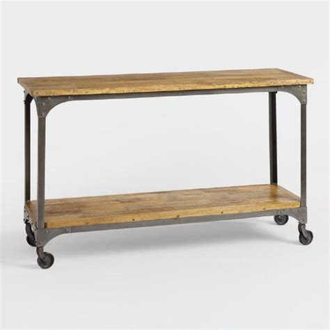 world market sofa table wood and metal aiden console table world market