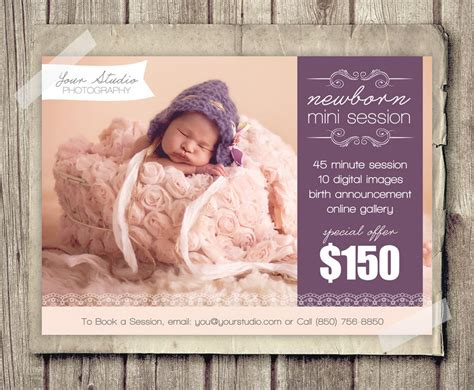 free photography advertising templates newborn photography template marketing baby newborn mini