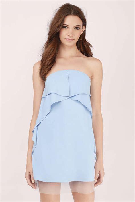 light blue shift dress light blue shift dress blue dress ruffled dress