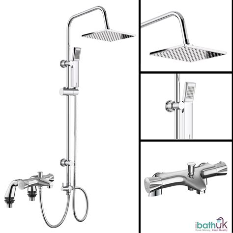 bath mixer shower tap bath shower mixer thermostatic valve tap 3 way use dual