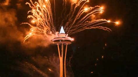 new years space needle 2016 seattle space needle new year fireworks hd