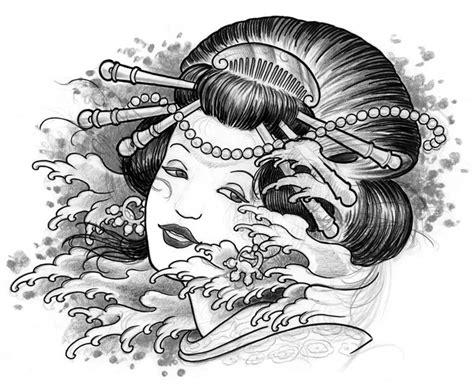 tatuaggi geisha con fiori geisha gallery disegni