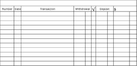 5 Printable Check Register Templates Formats Exles In Word Excel Check Register Book Template
