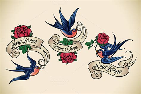 old school swallow tattoo designs 49 school designs