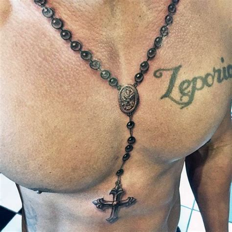 tattoo around neck 52 rosary tattoos for men