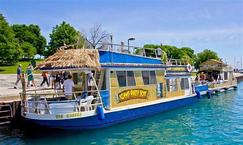tiki boat newport beach lake front cruise island party boat groupon