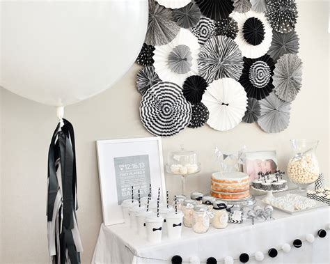 Black And White Decorations by Black White Birthday The Tomkat Studio