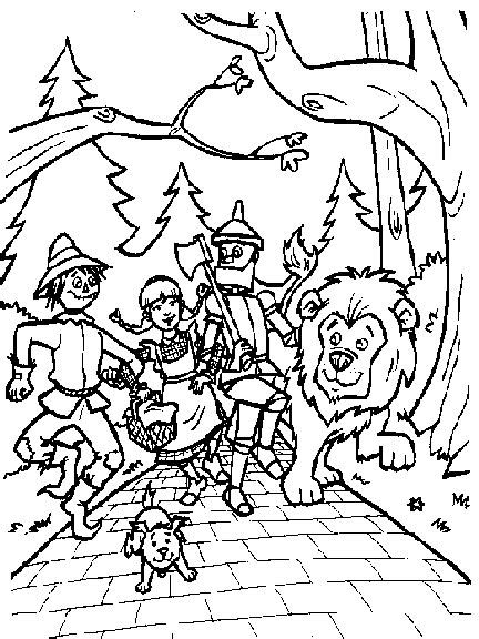 wizard of oz coloring pages coloring pages to print