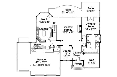 European Floor Plans by European House Plans 30 505 Associated Designs