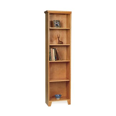 Tall & Narrow Solid Wood Bookcase  VT Made Natural Wood