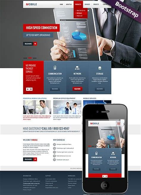 mobile website template bootstrap design responsive html