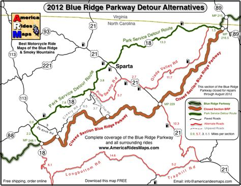 map of blue ridge parkway wayne s 2012 blue ridge parkway alternative detours for