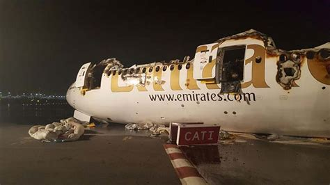 emirates lost baggage images of the emirates plane that burst into flames in