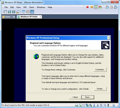 setup xp virtual host using free windows xp mode as a vmware virtual machine