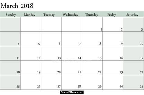 templates calendar march 2018 calendar printable template with holidays pdf