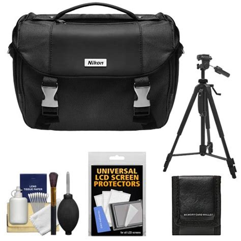 nikon deluxe digital slr camera case gadget bag  nikon  tripod cleaning kit