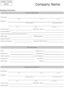 Free Employee Information Sheet Template by 8 Best Images Of Printable Employee Information Form New