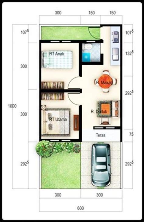 Desain Rumah Ukuran 6x10 | gambar denah rumah minimalis ukuran 6x10 terbaru kecil