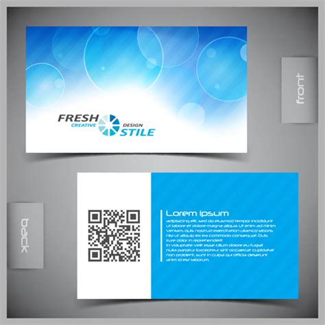 card template with front and back modern business cards front and back template vector 01