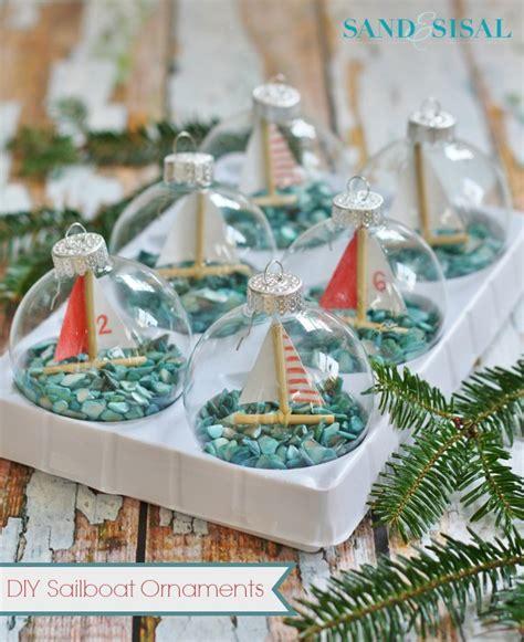Sailboat Home Decor diy sailboat ornaments sand and sisal