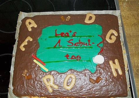 kuchen zum schulanfang tafel kuchen zur einschulung zum schulanfang