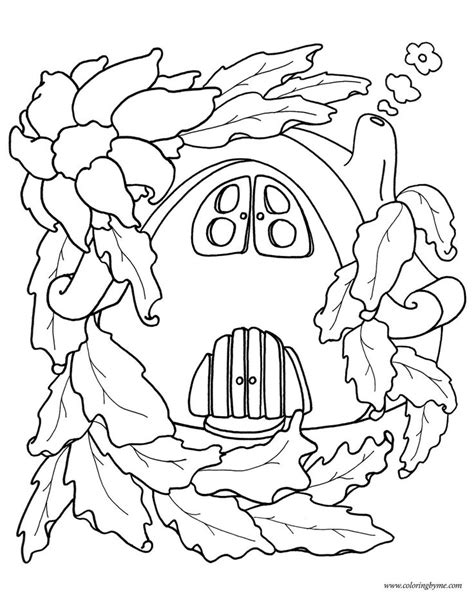 fairy house coloring page kids coloring book pinterest