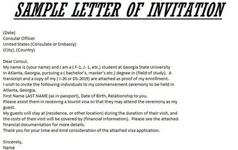 Invitation Letter Required For Visa Visa Invitation Letter Jvwithmenow
