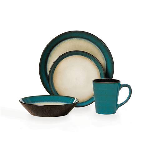 pfaltzgraff everyday aria teal 32 piece dinnerware set