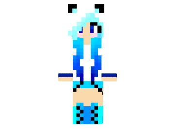 minecraft coloring pages girl skins minecraft blue ice panda girl skin azminecraft info