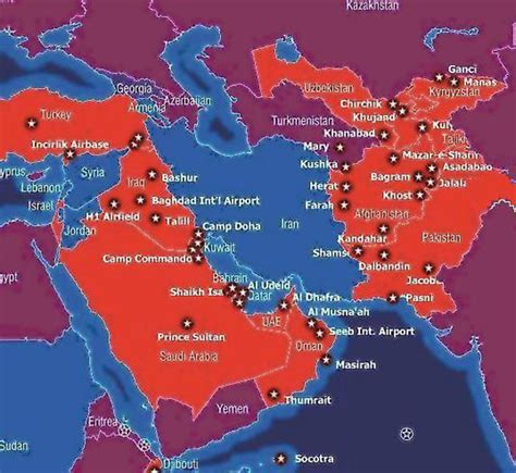 map us bases us bases around iran map www proteckmachinery