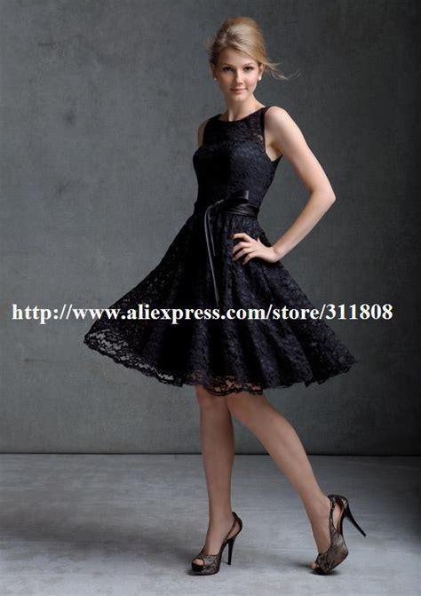 Promo High Neck Shanghai Best Seller Termurah new arrival high neck a line knee length black lace designer bridesmaid dress in