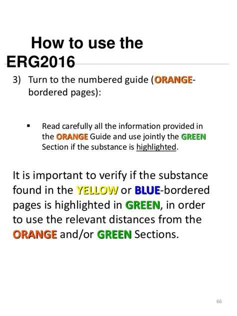 green section of erg 2016 erg book how to use the guide book