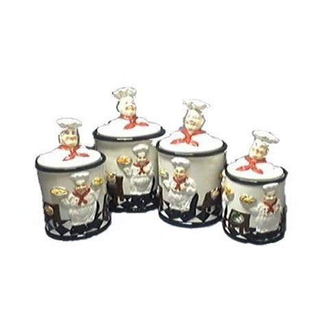 italian chef 3 d canister set of 4 canisters new