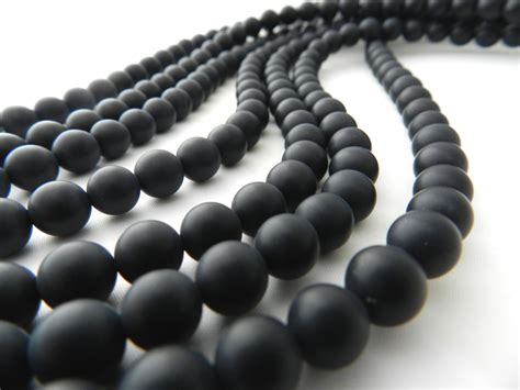 Black Onyx Matte Black Onyx 8mm Bead Matte Black