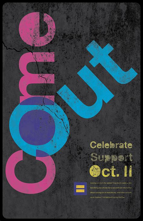 New Coming Out Day - come out posters promoting national coming out day on