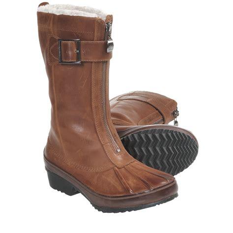 sorel earhart mid winter boots waterproof leather for