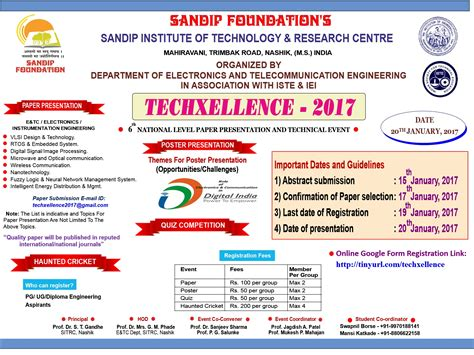 How To Make A Technical Paper Presentation - sandipfoundation 6th national level paper presentation