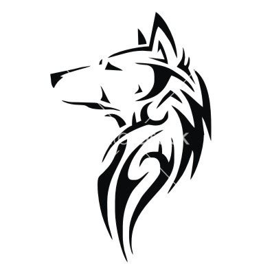 tribal wolf head tattoo tribal wolf vector 1891932 by vectoryone on