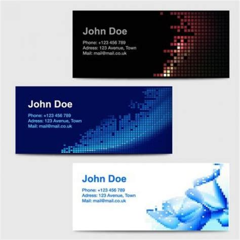 tile business cards templates clean business cards template with tiles vector free
