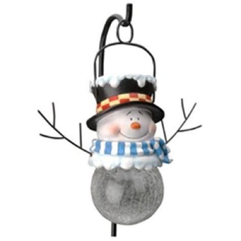 Snowman Solar Lights Snowman Yard Stakes Wikii