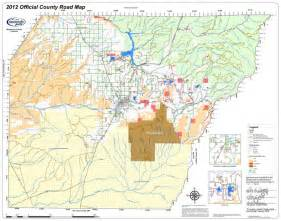 montezuma county road map colorado counties